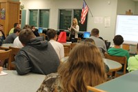 The Human Resources Director at Celina Group Insurance was a guest speaker at CHS.