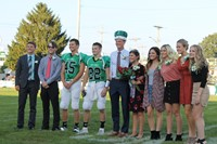 2018 Fall Homecoming Court with King Nate Schrock and Brook Smalley.