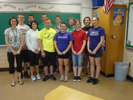 Students in Mrs. Draiss' math/calculus class.