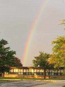 Beautiful Rainbow Behind Celina Elementary School