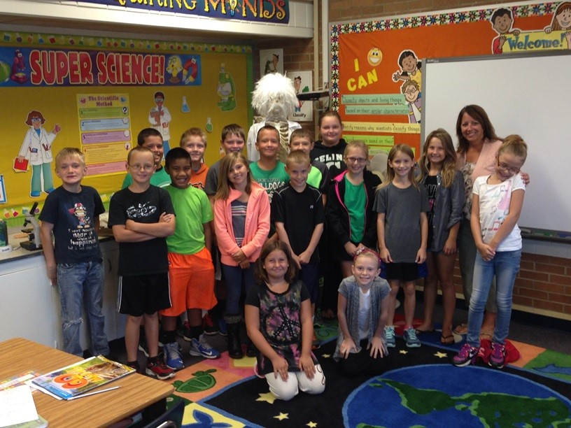 Mrs. Phlipot and her class was caught being PRO-ACTIVE!
