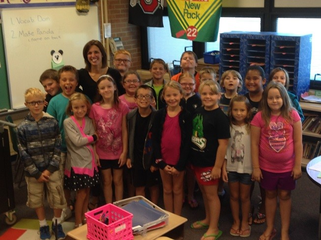 Mrs. Hodge and her class was caught being PRO-ACTIVE at school!