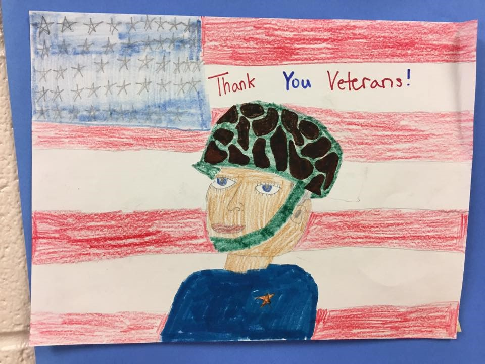 Veteran's Day Displays by 5th grade