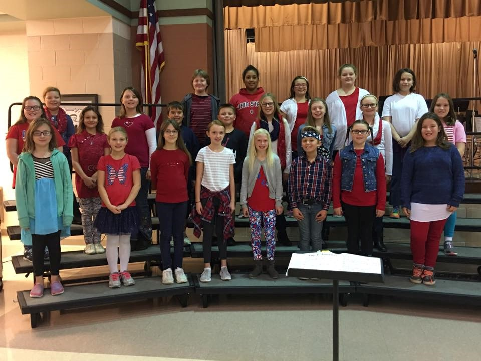 Choir Students during Veterans Day Assembly