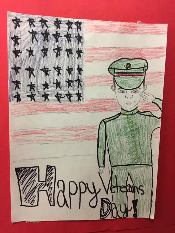 Veteran's Day Display by 5th grade