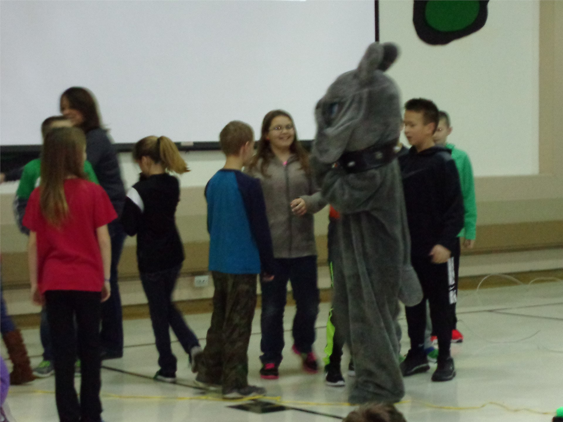 Celina's mascot came for a visit!
