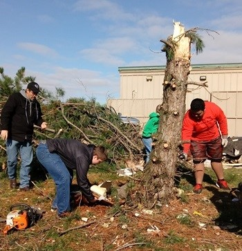 Tornado Cleanup 11-6-2017 by CHS Staff and Students