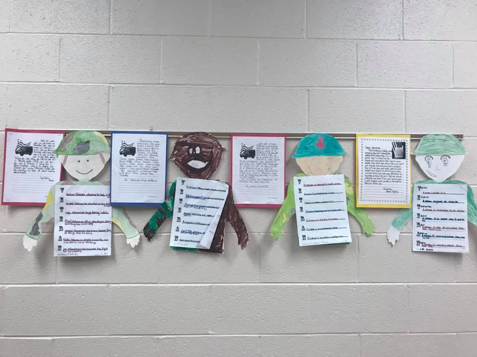 Veteran's Day Essays by 5th graders
