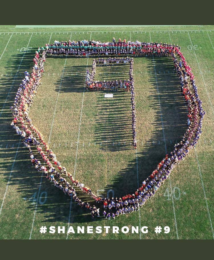 Area athletes gather to show support for Shane Homan.