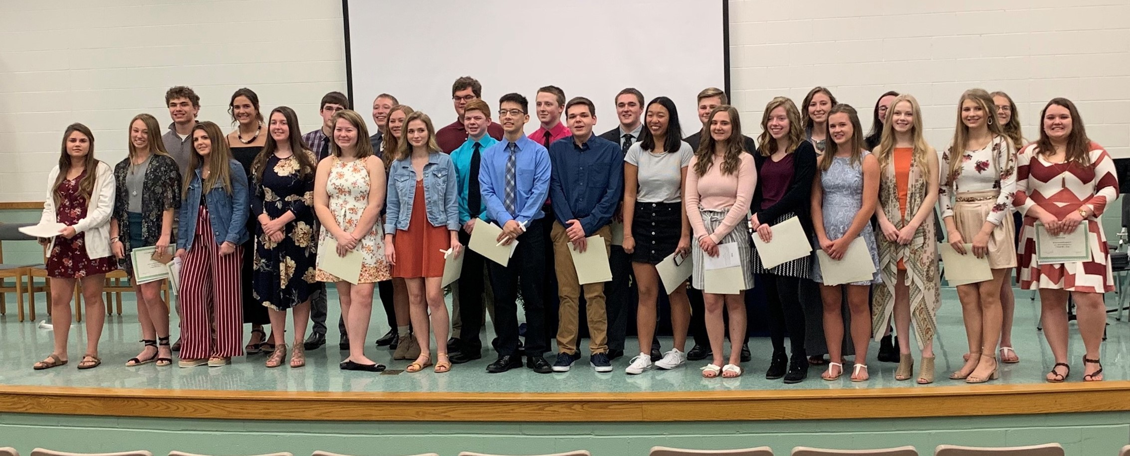 First Year Members of NHS for 2019=2020