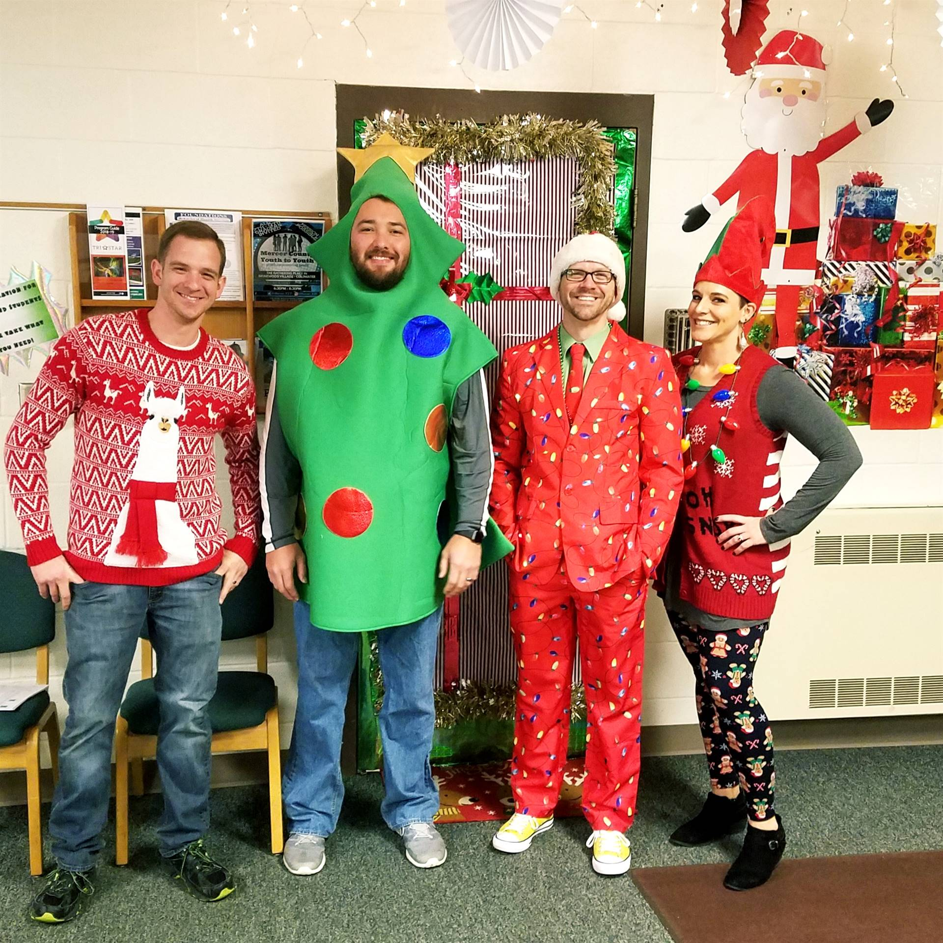 Staff Dressing Up For Christmas