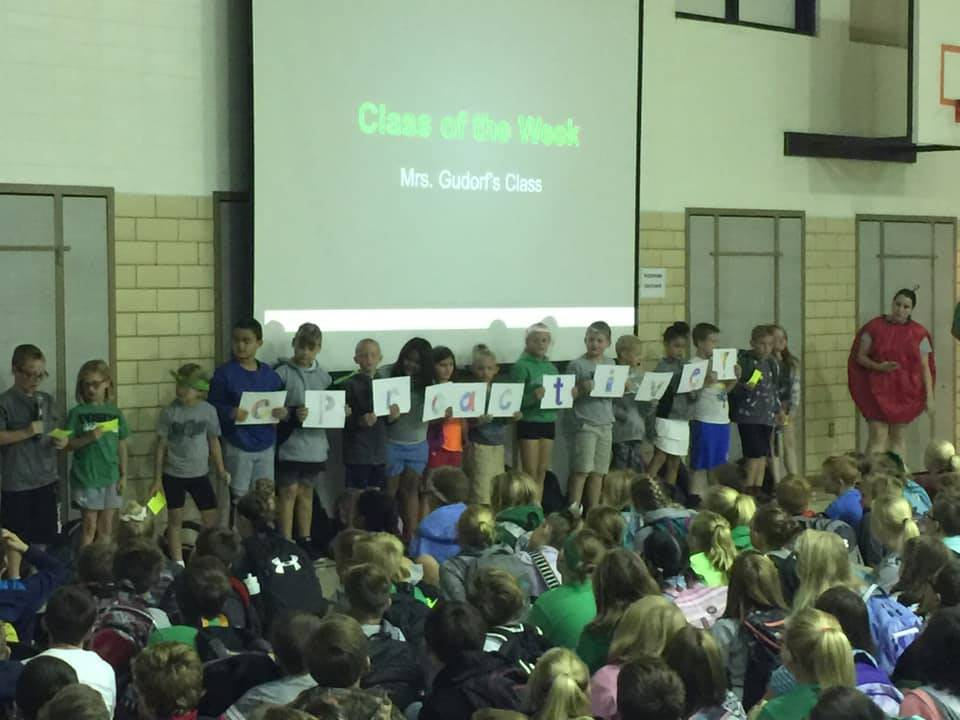Each week in Town Hall, we have a Class of the Week!
