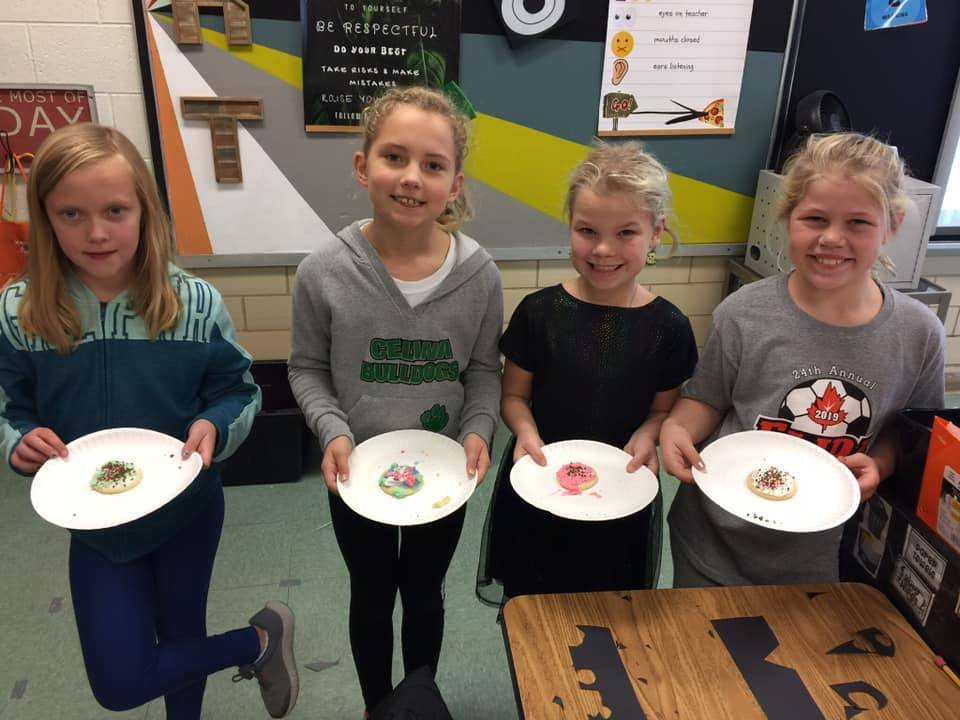 Connection Club Winter Activity - making life-size snowmen & decorating cookies!