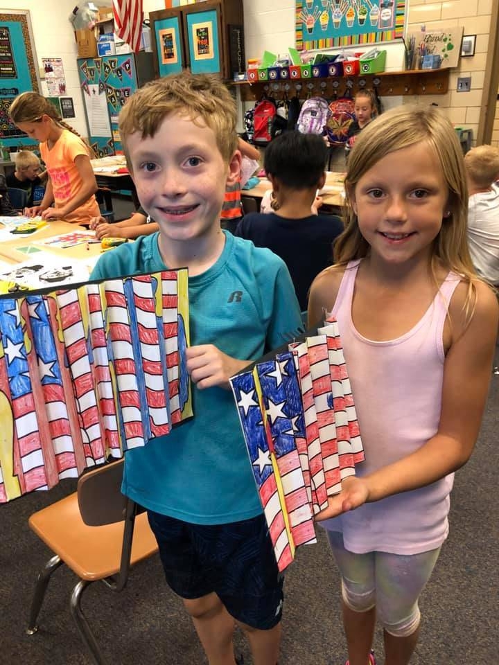 Mrs. Gonzalez's students made a Veteran's Day project!