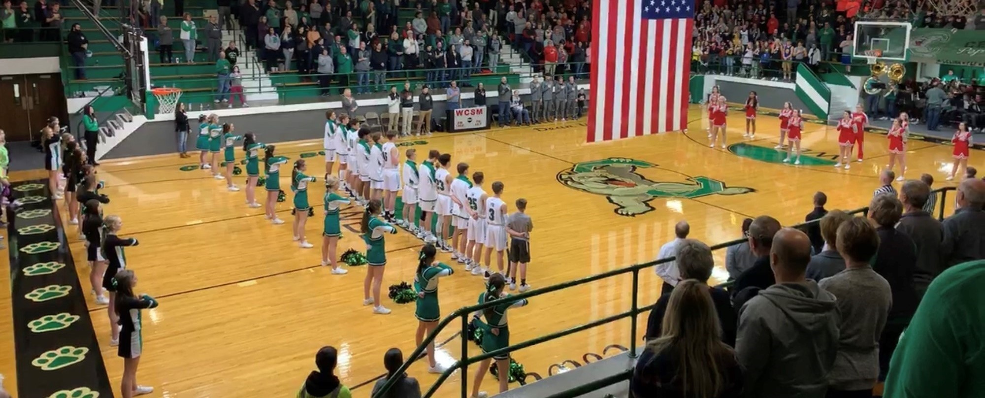 Basketball Game, Star Spangled Banner