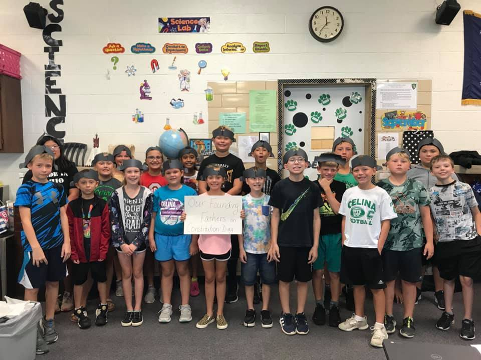 Students made Tri-Fold hats for Constitution Day!