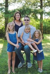 Teacher Casey Hinton and Family.